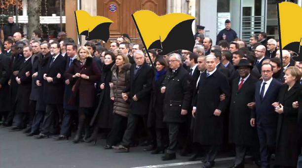 Líderes europeos a favor del tratado de libre comercio, se solidarizan con los anarcocapitalistas.