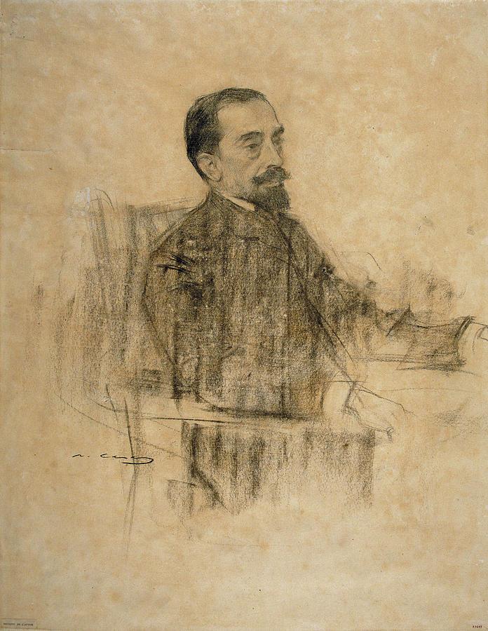 Retrat de Maragall per Ramon Casas, 1903